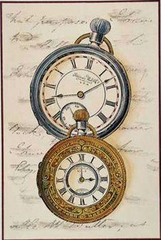 Vintage Pocket Watches Background ~ (pág. 112) | Aprender manualidades es facilisimo.com