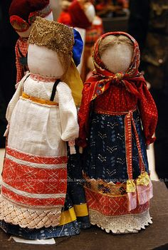 Russian folk textile dolls