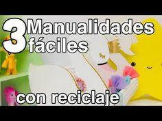3 ideas MUY FACILES (REPISA,ORGANIZADOR,ALCANCIA)manualidades para cuarto de niñas - YouTube
