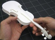 how to make a paper violin that works