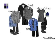 Fall Family Picture Clothing Ideas - Grays and blues Fall Family Photo Outfits, Family Photography Outfits, Family Portrait Outfits, Family Photo Colors, Clothing Photography, Family Photo Sessions, Family Portraits, Photography Ideas, Family Photos What To Wear