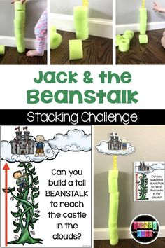 "I smell lots of preschool fun with these math, literacy, sensory, and dramatic play activities for ""Jack and the Beanstalk. Fairy Tale Activities, Rhyming Activities, Preschool Learning Activities, Preschool Science, Preschool Classroom, Preschool Activities, Book Activities, Infant Classroom, Preschool Programs"