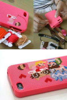 DIY cross stitch design case