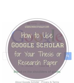 Make searching for research articles more efficient and organized with Google Scholar. | www.gradschoolstruggle.com