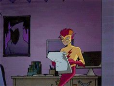 Kid Flash going to Jinx's room- I don't ship them,but this is sooooo funny!