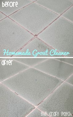 Homemade Grout Cleaner. Worked like a charm!