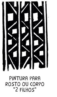 Pinturas e grafismos Kaypó. Quem explica o significado de desenho é Karoro Kayapó, uma das lideranças presentes na Aldeia Multiétnica durante o Encontro de Culturas.