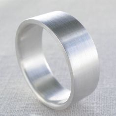 Men S Sterling Silver Ring Wide Flat Fat Thick Mens Wedding Band Or Engagement