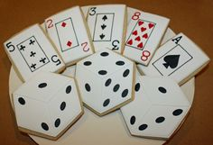 Playing Cards & Dice Cookies