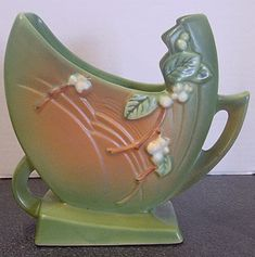 Roseville Pottery - Snowberry vase circa 1946.