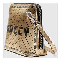 Gucci Guccy Mini Shoulder Bag (6.715 RON) ❤ liked on Polyvore featuring bags, handbags, shoulder bags, brown handbags, mini coin purse, shoulder hand bags, antique coin purse and paper purse