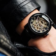 Style of the Day Get your wrist noticed with the Gatsby skeleton timepiece. #LiveVodrich (:@goldenhourtime)