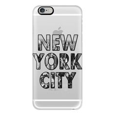 iPhone 6 Plus/6/5/5s/5c Case - New York City - Transparent ($40) ❤ liked on Polyvore featuring accessories, tech accessories, phone cases, phones, cases, iphone case, iphone cover case, transparent iphone case and apple iphone cases