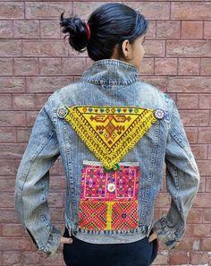 Vintage Kuchi Upgraded Afghan Ethnic Boho Medallions Jeans (Roberto) ATS Jacket