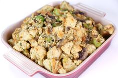 Biscuit Stuffing with Celery, Shallots, and Mushrooms