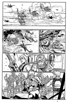 Robotech Black and White pages