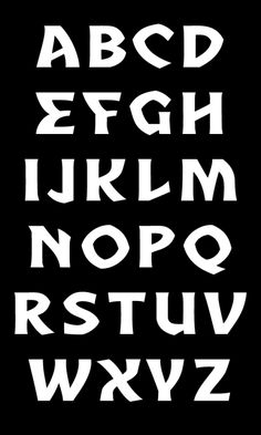 Typeface by David Rudnick