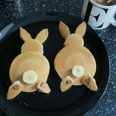 3 easy steps to the cutest bunny brunch pancakes <3