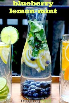 Blueberry lemon-mint w logo