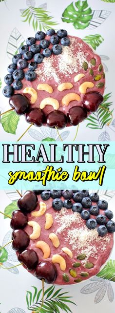 Check how you can make this healthy smoothie bowl with blueberry-strawberry and cashew! Easy Healthy Breakfast, Healthy Food, Healthy Eating, Healthy Recipes, What To Make, Smoothie Bowl, Healthy Smoothies, Blueberry, Strawberry