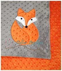 Ragged Edge Fox Applique - 2 Sizes! | Featured Products | Machine Embroidery Designs | SWAKembroidery.com