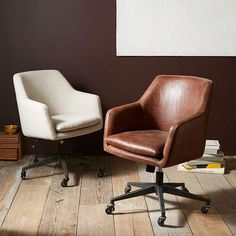 west elm's modern home office chairs combine style and function. Find modern home office chairs that coordinate with our contemporary home office desks. Swivel Office Chair, Home Office Chairs, Home Office Furniture, Home Office Decor, Cool Furniture, Home Decor, Office Ideas, Modern Furniture, Furniture Stores
