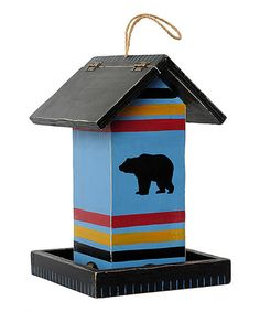 Love this Blue Bear Blanket Stripe Bird Feeder by Outside Inside Gifts on #zulily! #zulilyfinds