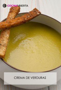 Receta De Crema De Verduras Con Picatostes Karlos Arguiñano Crema De Verduras Cremas Recetas Verduras