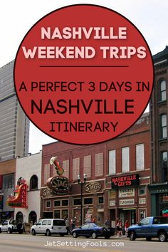 Nashville weekend trips are phenomenally entertaining! Known for live music, hot chicken and Southern hospitality, 3 days in Nashville, Tennessee is just enough time to get acquainted with the city. We created a Nashville itinerary that highlights the best music experiences, top places to eat and must-see city attractions. Usa Travel Guide, Travel Usa, Travel Guides, Travel Tips, Central America, North America, Cheap City Breaks, Vacation Places In Usa, European City Breaks