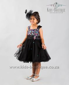 Black Tulle With Color Gems
