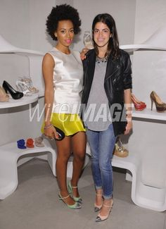 Com a man Repeller!! Solange Knowles and Leandra Medine attend The Man…