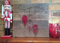 Rustic Christmas pallet with string art by SomethinCatchy on Etsy
