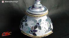 DIY Garba (Pot) decorations for Navratri, Diwali and wedding Wedding Crafts, Diy Wedding, Wedding Ideas, Kalash Decoration, Navratri Garba, Pots, Making Wedding Invitations, Round Candles, Lehenga Designs