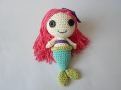 Size: 19 cm Handmade crochet work with love & care. Crochet Dolls, Crochet Hats, Stuffed Toy, Mermaid, Christmas Ornaments, Trending Outfits, Toys, Holiday Decor, Unique Jewelry
