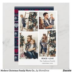 Modern Christmas Family Photo Collage Peace Love Holiday Card Merry Christmas Family, Modern Christmas, Family Photo Collages, Family Photos, Love Holidays, Modern Rustic, Photo Cards, Peace And Love, Holiday Cards