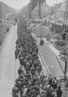 German POWs captured by the Soviets at the end of the Battle of Berlin, May/June 1945