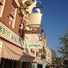 Main Street Disneyland - we always go to the ice cream parlor on our way out!