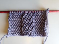 Mock cables: spiral-stitch edition - LoveKnitting blog #tutorial