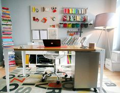 """Home offices are often spaces which are organically thrown together over time, rather than planned and designed. Thus, there are often pragmatic choices of """"this will do for now"""" that eventually turn into """"I totally have forgotten about it"""" details. But sometimes it's worth revisiting how your home office is setup and making a few changes to optimize comfort and efficiency..."""