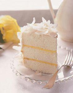 Tart meets sweet in our dreamy lemon-filled Coconut Cloud Cake. #recipes #dessert