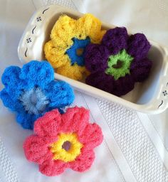 Hey, I found this really awesome Etsy listing at https://www.etsy.com/listing/177250369/nylon-pot-scrubber-dish-scrubber-set-of