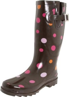 """Western Chief Women's Gum Drops Rain Boot,Brown,7 M US Western Chief. $35.68. rubber. Gusetted buckles. Shaft measures approximately 11 1/2"""" from arch. 100% waterproof rubber. Heel measures approximately 1"""". Non-skid soles. Moisture-wicking inner lining. Boot opening measures approximately 15 1/4"""" around. Made in China. Platform measures approximately 1/2"""" . Removable Insole. Rubber sole. Save 40%!"""