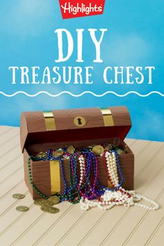 Hidden treasure? An ancient map where X marks the spot? It must be time for a great adventure! Play up the drama as your kids make their own treasure chests and treasure maps. Encourage them to make up stories as they make their crafts.