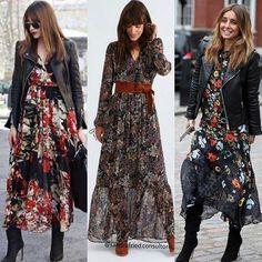 Fall Fashion Outfits, Modest Fashion, Boho Fashion, Fashion Dresses, Womens Fashion, Formal Dresses With Sleeves, Casual Dresses, Mode Lookbook, Mode Chic
