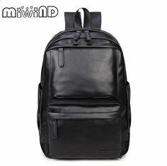 af256a83e55ae 2017 Plecak skórzany męski Wysokiej jakości plecak młodzieżowy Plecak  Tornister szkolny Plecak męski Laptop Business bag
