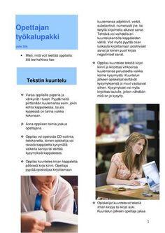 Opettajan työkalupakki  luokkatyöskentelyä kieltenopetus
