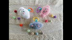 Como hacer una sonaja en forma de nube Kawai - YouTube Crochet Necklace, Crochet Hats, Youtube, Amigurumi, Baby Rattle, Baby Gifts, Clouds, Shapes, How To Make