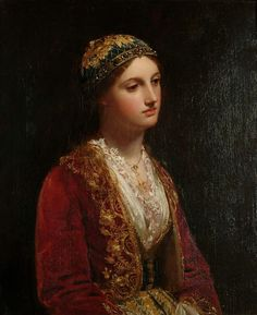 The Albanian girl. 19th century (Circle of Jan Frederik Pieter Portielje