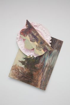 Baroque and Perverse #2, 2012; Carl W. Illig's painting, resin, foam by Rebecca Vaughn #art #mixedmedia