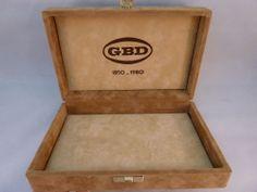 GBD Presentation Box for Pedigree 1 Anniversary Pipe 1850 - 1980 ; Box Only